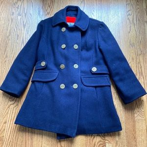 Vintage 60s 70s Lined Mod Navy Pea Coat